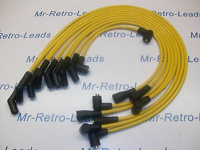 YELLOW 8MM PERFORMANCE IGNITION LEADS FOR TRIUMPH STAG ROVER 3.0 V8 QUALITY HT