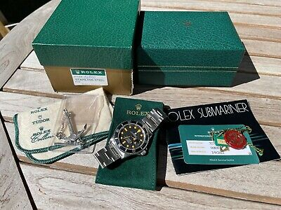 Vintage Rolex 16800 Submariner. 1982, Matte Dial, Pumpkin Patina, Service Papers