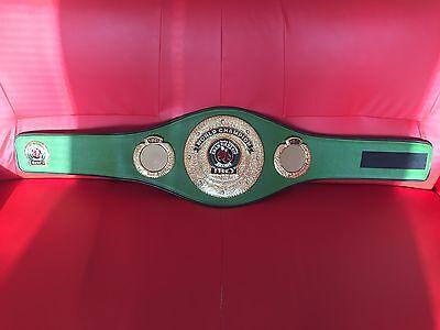 Old Style IBO World Champion Boxing Belt Replica -IBF, WBA, WBO