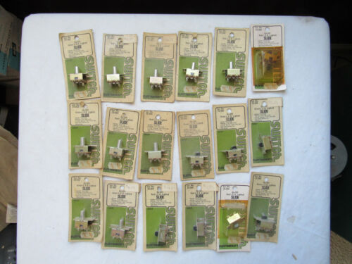 (lot) Vintage Electrocraft Slide Switch 35-260 262 264 LED Red Green Amp Retro