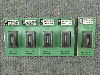 Unused Lot Of 5 Welch Allyn No. 03300 Bulbs For 11511 Instrument