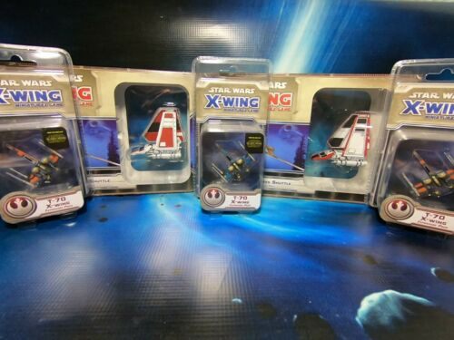 Lambda-class shuttle & T-70 X-Wing Hand Painted Star Wars X-Wing Miniatures Game