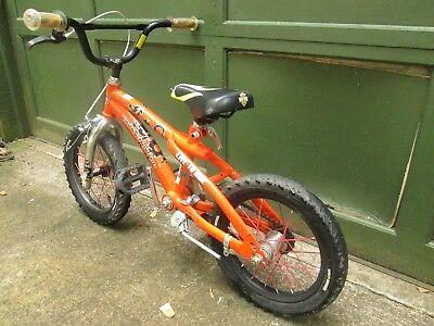 "Cycling Harley Davidson ""Live to Ride"" Kids Bicycle Harley Orange 14"" Tires"