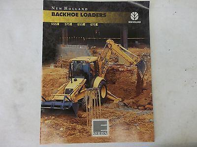 New Holland 555e 575e 655e 672e Backhoe Loaders Brochure