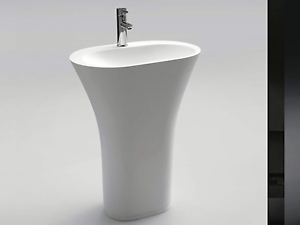 DESIGNER WHITE ISTONE SOLID FREESTANDING BASIN ONLY Vaucluse Eastern Suburbs Preview
