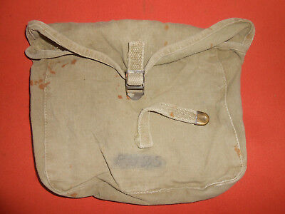 U.S.ARMY* : WWII era M1928 CANVAS HAVERSACK MESS KIT MEAT CAN POUCH used