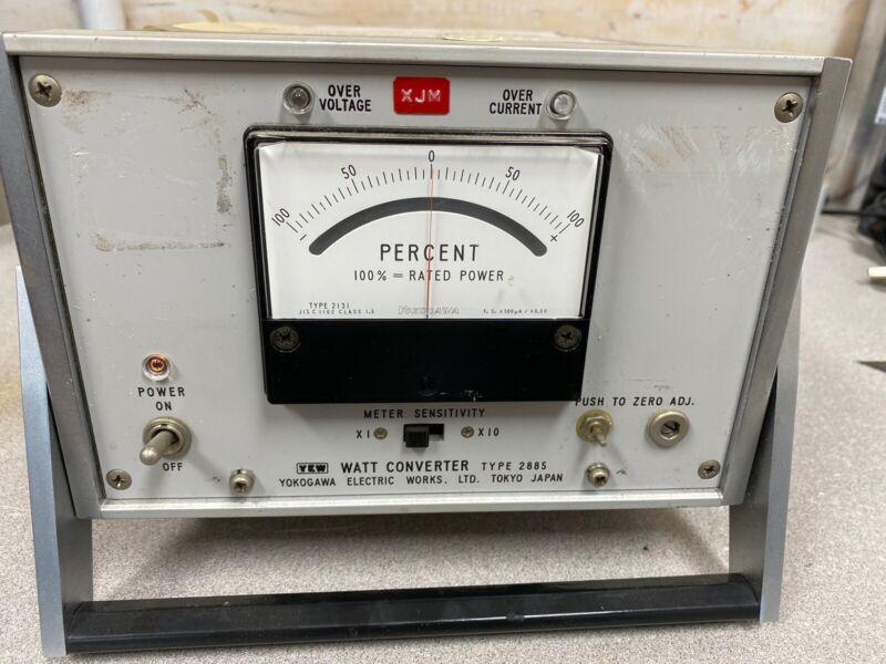 Yokogawa 2885 Watt Converter Standard