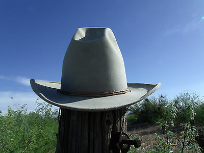 Vintage Stetson Cowboy Hat 4X Beaver With Tall Texas Sombrero Crown Size 7 1/8