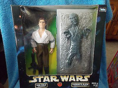 "Star Wars  Han Solo as Prisoner  Carbonite Block With Frozen Han Solo  12"""