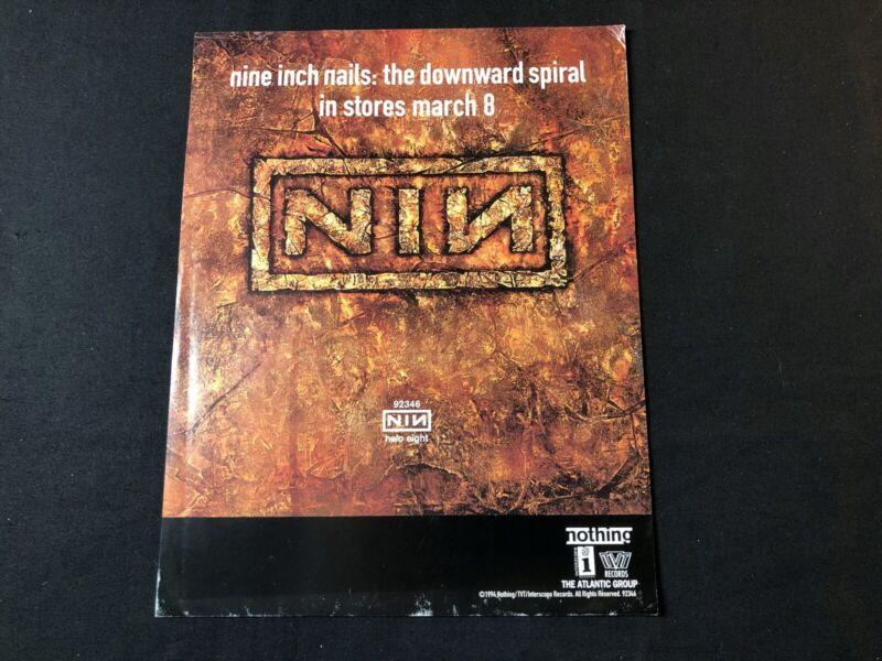 NINE INCH NAILS 1994 PRESS RELEASE DOWNWARD SPIRAL - $15.00