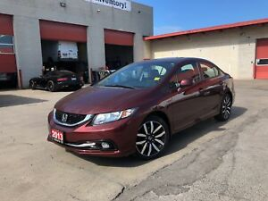 2013 Honda Civic TOURING**LEATHER**SUNROOF**NAV**BACK UP CAM**