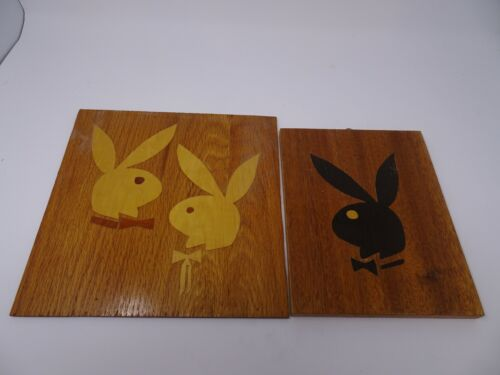 Vintage Playboy Bunny RELIEF WOOD CARVING WOMAN WALL ART PORTRAIT Playboy