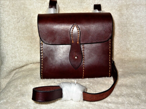 ~NEW~ Dark Brown HAV English FOX HUNTING Leather SANDWICH Case