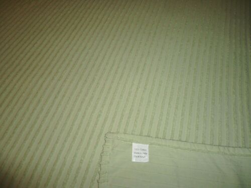 Vintage Farmhouse Light Sage Green Cotton Chenille Bedspread King Queen 108X125