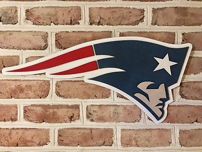 New England Patriots Mancave Bar Basement Sign Game Used Rob Gronkowski Football