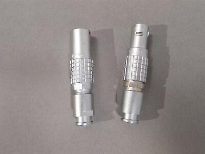 2pc Lemo Connector Set Phg.0b.304 Receptacle And Fgg.0b.304 Plug New