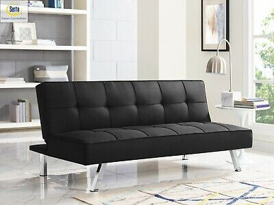 Serta Chelsea Convertible Sofa, Full Size Bed and Lounger by Lifestyle Solutions
