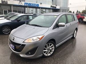 2017 Mazda Mazda5 GT, LEATHER, SUNROOF, ONLY $127 BI WEEKLY