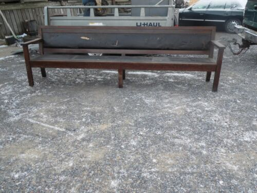 Antique / Vintage Wooden Church Pew 10