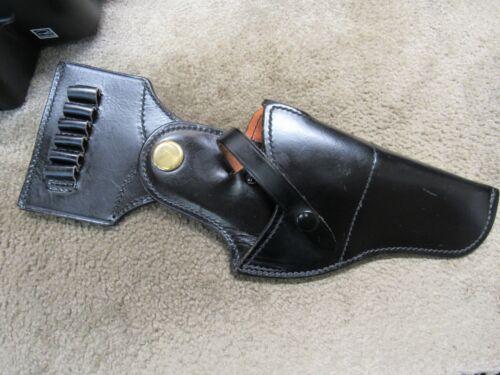 "Jay Pee Colt 4"" 357 Magnum Leather Holster RH With Bullet Strip 6 rds Vintage"