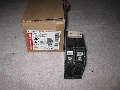 Cutler Hammer Ch230 Circuit Breaker 30 Amp Double Pole Plastic Foot