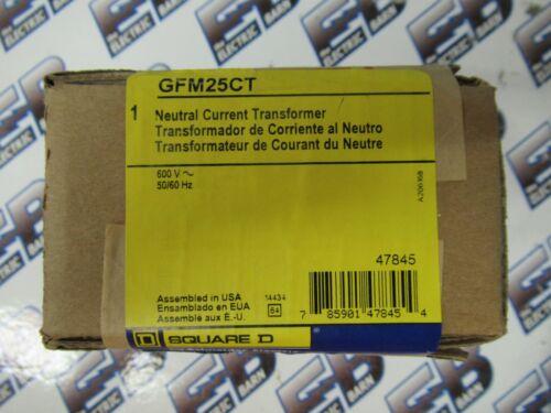 Square D GFM25CT NEUTRAL CURRENT TRANSFORMER -NEW