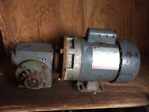 1/2 HP motor with gear reducer drive