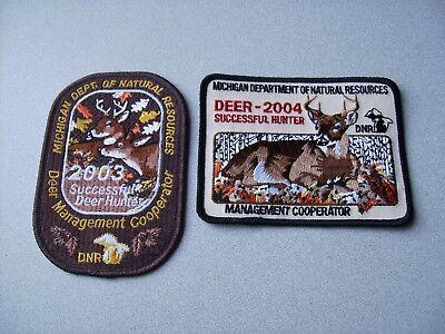 2006 MICHIGAN DNR SUCCESSFUL BEAR HUNTER PATCH DEER-TURKEY-ELK-MOOSE-FISHING