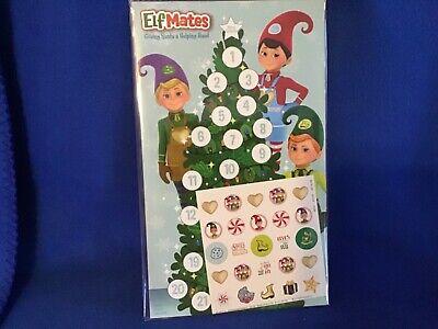 Elf Mates - Elf On The Shelf Advent Calendar CountdownDays To Christmas Stickers