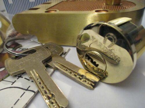 Maxtech Deadbolt With High Security Yardeni Cylinder- 2 High Security Keys-Brass