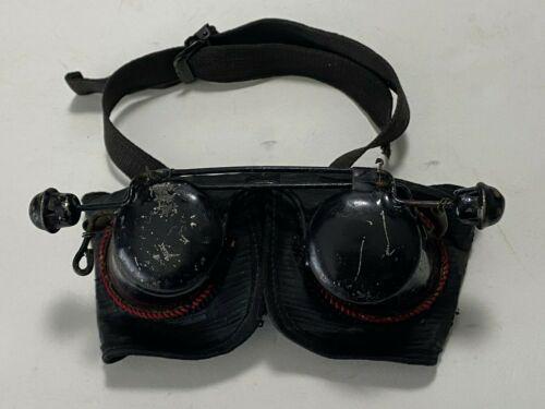 Antique Hoodwinks Goggles Flip Metal Velvet Blindfold - For Refurbishing