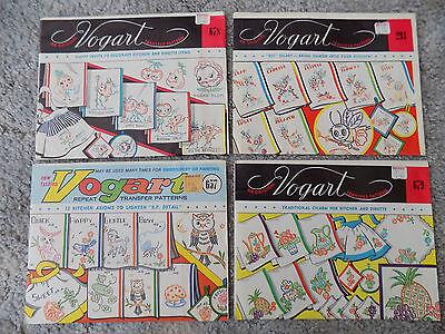 Four Vintage Vogart Repeat Transfer Patterns-Uncut
