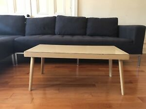 Gorgeous vintage wood coffee table birch colour