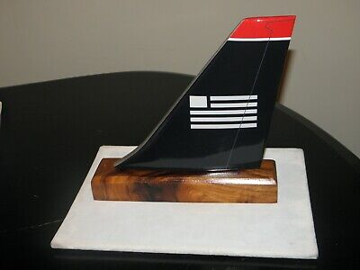 US AIRWAYS DESK MODEL WOOD TAIL AMERICAN AIRLINES PILOT COLLECTIBLE GIFT NEW  Us Airways Airlines