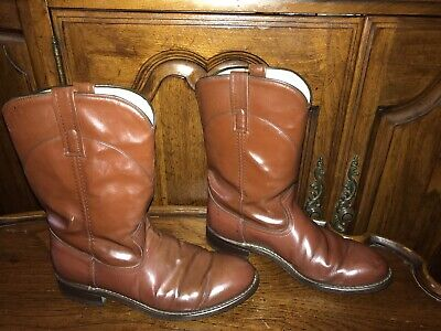 Acme Brown Cowboy Western Leather Boots Size 7.5M