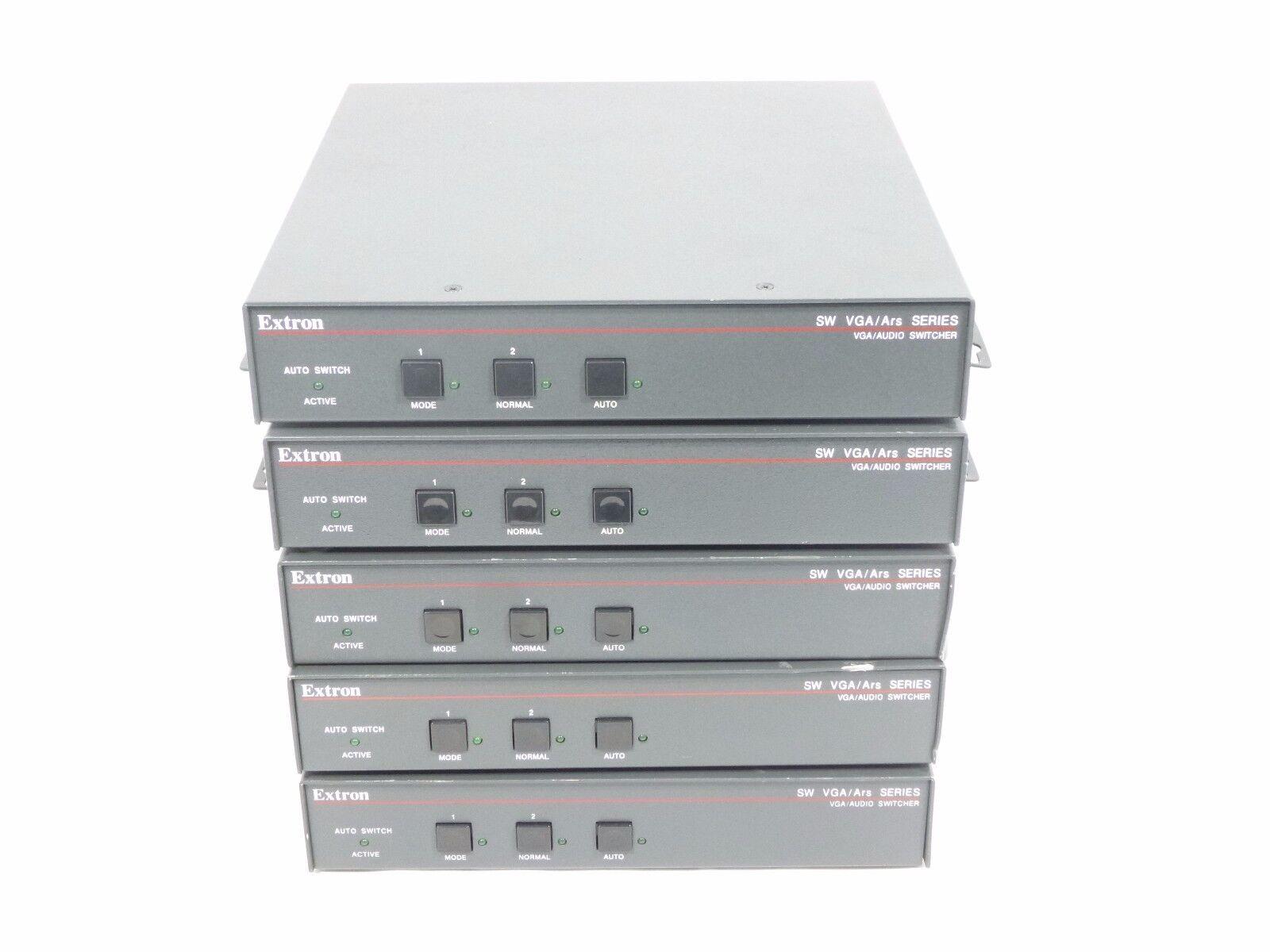 LOT OF 5 EXTRON SW VGA/Ars Series VHA/Audio Switcher SW2