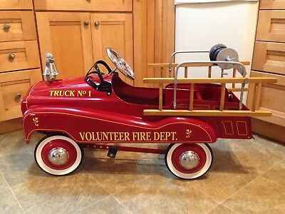 Gearbox Pedal Car Fire Truck Limited Edition Volunteer Fire Department