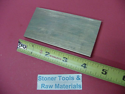 14 X 2 C360 Brass Flat Bar 4 Long Solid Plate Mill Stock H02 .25x 2.00