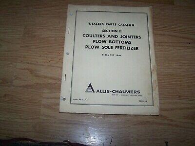 Allis Chalmers Parts Catalog Coulters Plow Bottoms Plow Sole Fertilizer 1966
