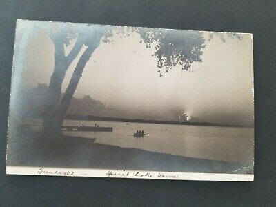 c 1910 Spirit Lake Iowa Real Photo Postcard RPPC