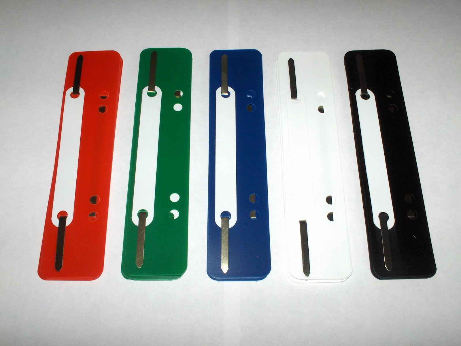 25 Stück Heftstreifen-Abheftstreifen - kurz - aus Kunststoff - farbig sortiert