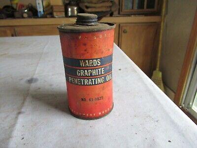 Vintage Empty Pint Montgomery Ward Penetrating Oil Only 1 on eBay Lot 20-95-2