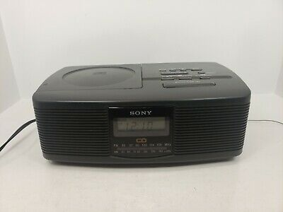 Sony Digital Alarm Clock Stereo CD Compact Player AM FM Radio ICF-CD810 Works