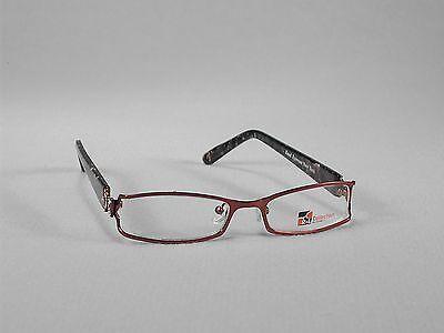 Frames Glasses Women Eyewear Metal Plastic Full-Rim Wide Bling Red (Wide Rim Glasses)