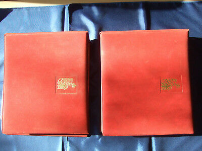 WESTMINSTER COLLECTORS SOCIETY FIRST DAY STAMP COVERS / U. K. / 2 VOLUMES