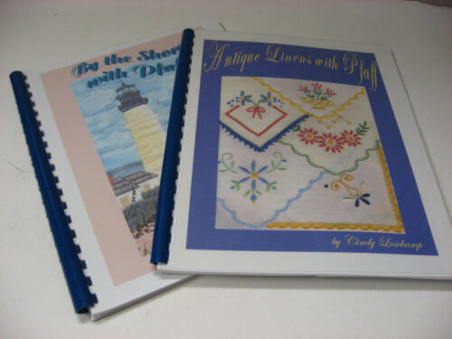 Lot 2 Cindy Losekamp Machine Embroidery Pattern Books By the Shore with Pfaff