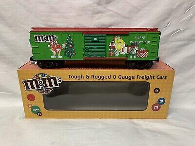 ✅MTH RAILKING M&M's CHRISTMAS BOX CAR! FOR O GAUGE TRAIN SET CANDY CHOCOLATE
