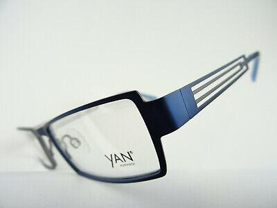 Blaue Edelstahl Brille Herrenfassung eckige Form unempfindliche Brillen Gr. M