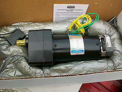 Leeson Ac Gear Motor M1125107.00  115th Hp 115vac 301  57rpm New