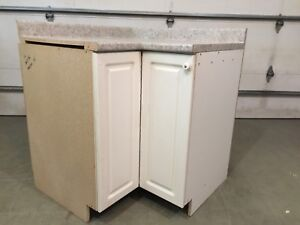 Free for pickup - Corner cabinet with countertop and Lazy Susan
